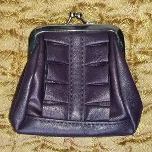 Miche Karie Coin Purse, Purple Ruffle Wallet